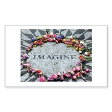 Imagine Rectangle Sticker 50 pk)