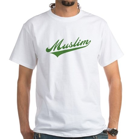 Retro Muslim White T-Shirt