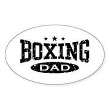 Boxing Dad Oval Decal