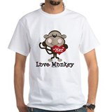 Her Love Monkey Valentine Shirt