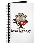 Her Love Monkey Valentine Journal