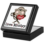 Her Love Monkey Valentine Keepsake Box