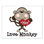 Her Love Monkey Valentine Small Poster