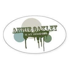 Annie Oakley is my Home-Girl Oval Stickers