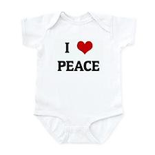 I Love PEACE Infant Bodysuit