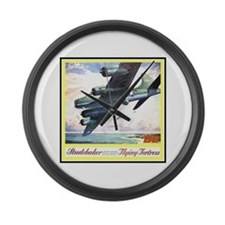 """Flying Fortress Engines Ad"" Large Wall Clock"