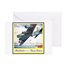 """""""Flying Fortress Engines Ad"""" Greeting Card"""
