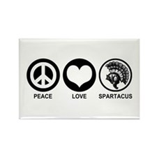Peace Love Spartacus Rectangle Magnet