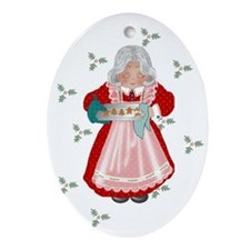 Mrs. Claus Oval Ornament