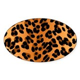 Leopard Print Motif Oval Decal