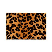 Leopard Print Motif Rectangle Magnet