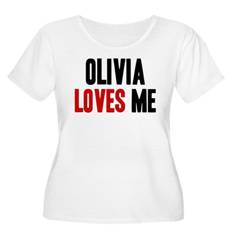 Olivia loves me Women's Plus Size Scoop Neck T-Shi