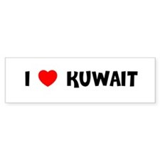 I LOVE KUWAIT Bumper Bumper Sticker