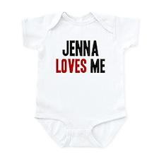 Jenna loves me Infant Bodysuit