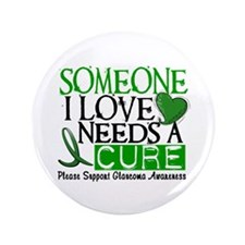 "Needs A Cure GLAUCOMA 3.5"" Button"