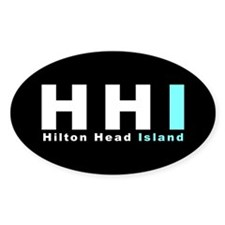 HHI - Hilton Head Island Oval Decal