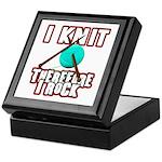 I Knit - Therefore I Rock Keepsake Box