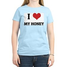 I Love My Honey Women's Pink T-Shirt