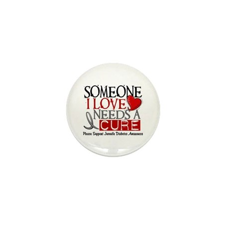 Needs A Cure JUVENILE DIABETES Mini Button