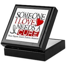 Needs A Cure JUVENILE DIABETES Keepsake Box