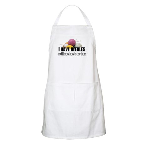 Knitting Needles Apron