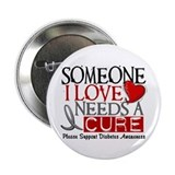 "Needs A Cure DIABETES 2.25"" Button (10 pack)"