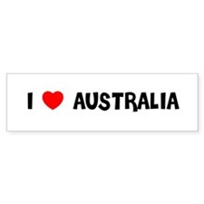 I LOVE AUSTRALIA Bumper Stickers