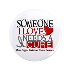 "Needs A Cure PARKINSONS 3.5"" Button (100 pack)"