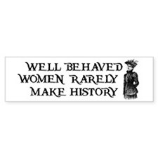 Women Change History Bumper Bumper Sticker