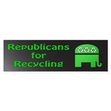 Republicans green recycling bumper sticker
