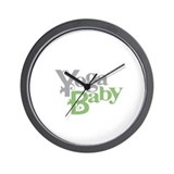 Yoga Baby Wall Clock