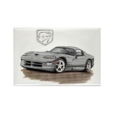 Viper Silver Car Rectangle Magnet