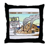 POLAR BEARS IN THE DUMP Throw Pillow