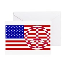 Cute Peace flag Greeting Cards (Pk of 20)
