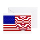 Cute Peace flag Greeting Card