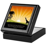 Ghandi Quote Keepsake Box