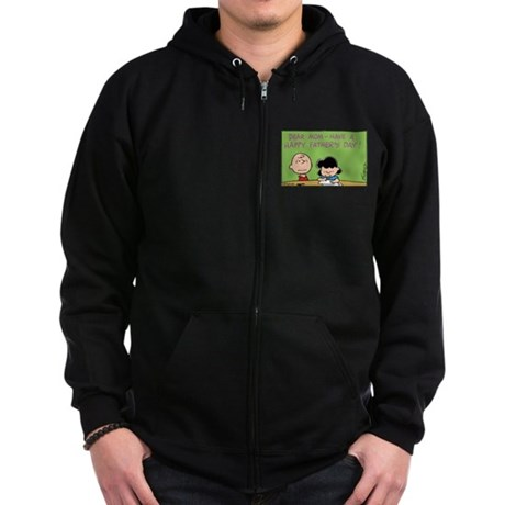Dear Mom, Happy Father's Day! Zip Hoodie (dark)