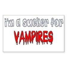 I'm a Sucker for Vampires Rectangle Decal