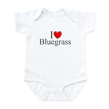 """I Love (Heart) Bluegrass"" Onesie"