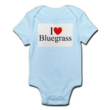 """I Love (Heart) Bluegrass"" Onesie"