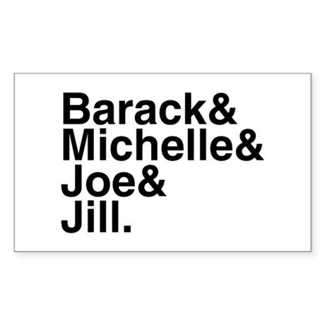 White House Roll Call Rectangle Sticker