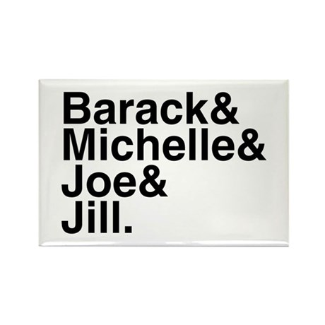 White House Roll Call Rectangle Magnet