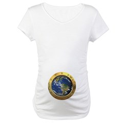 Earth Porthole Maternity T-Shirt