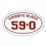 Goodbye Blago 59-0 Oval Sticker (10 pk)