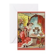 Vintage Sewing Machine Print Greeting Cards (Pk of