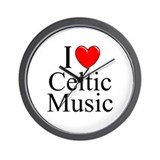 """I Love (Heart) Celtic Music"" Wall Clock"