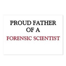 Proud Father Of A FORENSIC SCIENTIST Postcards (Pa