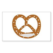 Bakery Pretzel Rectangle Sticker 10 pk)