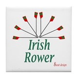 Irish Rower Tile Coaster
