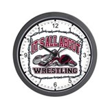 All About Wrestling Wall Clock